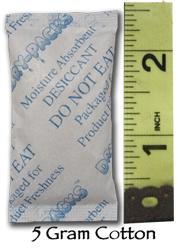 5 Gram Silica Gel Packet - Cotton