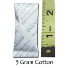 3 Gram Silica Gel Packet - Cotton
